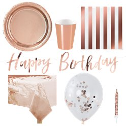 Rose Gold Party Pack - Deluxe Pack for 8