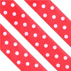 Red Polka Dot Cake Ribbon - 1m