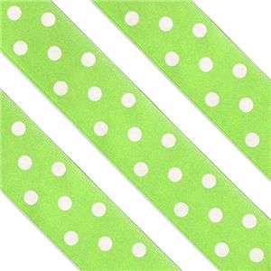 Green Polka Dot Cake Ribbon - 1m