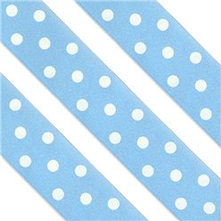 Blue Polka Dot Cake Ribbon - 1m