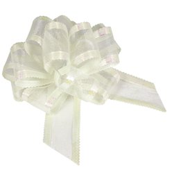 Organza Pull Bow - Ivory