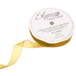 Gold Organza Ribbon - 20m