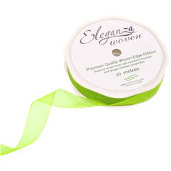 Lime Green Organza Ribbon - 20m