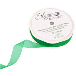 Green Organza Ribbon - 20m