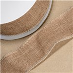 Hessian Wired Ribbon - 10m