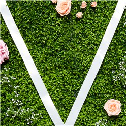 White Wedding Car Ribbon - 9m