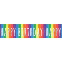 Happy Birthday Stripe Cake Ribbon - 1m