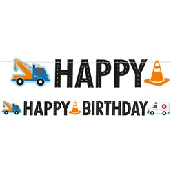 On the Road Happy Birthday Letter Banner