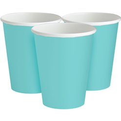 Robin's-Egg Blue Cups - 266ml Paper Party Cups