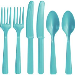 Robin's Egg Blue Reusable Cutlery - Assorted 24pk