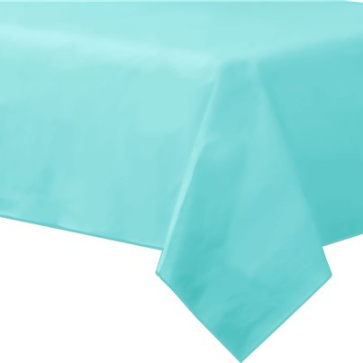 Robin's-Egg Blue Plastic Lined Paper Tablecover - 1.4m x 2.8m