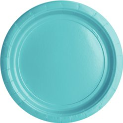 Robin's-Egg Blue Plates - 18cm Paper Party Plates