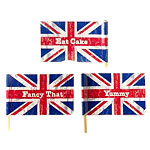 Union Jack Mini Flag Food Picks