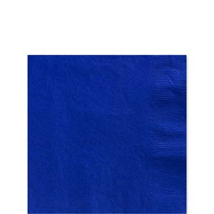 Royal Blue Beverage Napkins - 25cm Square 2ply Paper
