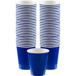 Royal Blue Coffee Cups - 340ml Paper