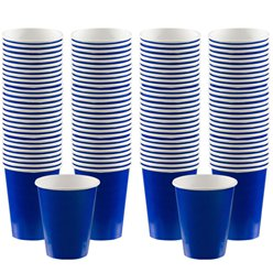 Royal Blue Coffee Cups - 340ml Paper Cups