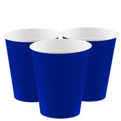 Royal Blue Paper Cups - 266ml