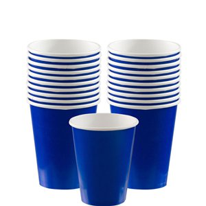 Royal Blue Cups - 266ml Paper Party Cups