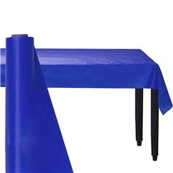 Royal Blue Jumbo Plastic Banqueting Roll - 76m