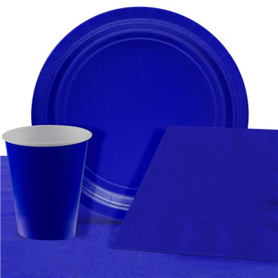 Royal Blue Party Pack For 8 People - Value Pack For 8