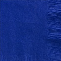 Royal Blue Dinner Napkins - 40cm Square 2ply Paper
