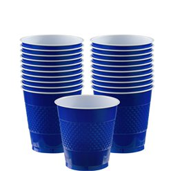 Royal Blue Cups - 266ml Plastic Party Cups