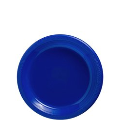 Royal Blue Plates - 18cm Plastic Party Plates