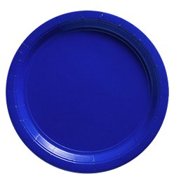 Royal Blue Paper Plates - 23cm
