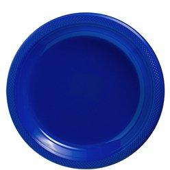 Royal Blue Plates - 23cm Plastic