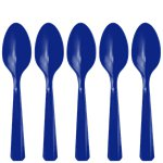 Royal Blue Plastic Spoons