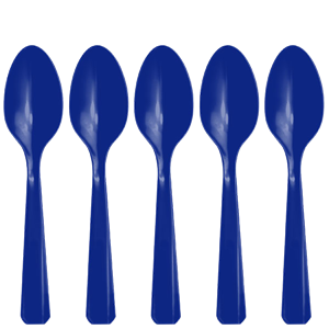 Royal Blue Reusable Spoons - 20pk