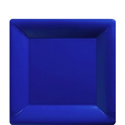 Royal Blue Square Plates - 18cm Paper Party Plates