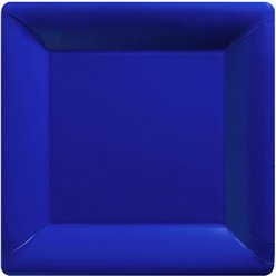 Royal Blue Square Plates - 26cm Paper Party Plates