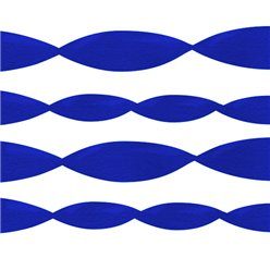 Jumbo Royal Blue Crepe Paper Streamer - 152m