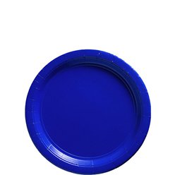 Royal Blue Plates - 18cm Paper Party Plates