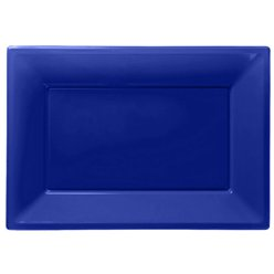Royal Blue Serving Platters - 23cm x 32cm Plastic