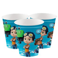Rusty Rivets Party Cups - 250ml Paper
