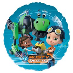 "Rusty Rivets Balloon - 18"" Foil"
