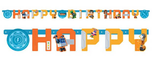 Rusty Rivets Birthday Letter Banner - 2.1m x 13cm