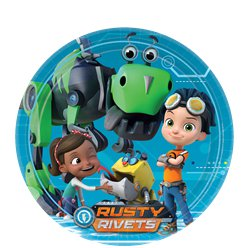 Rusty Rivets Party Plates - 23cm Paper