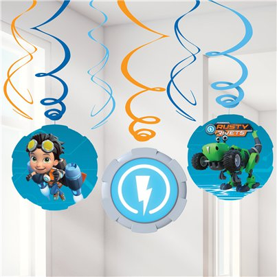 Rusty Rivets Hanging Swirl Decorations