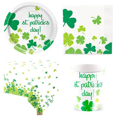 St Patrick's Shamrock Party Pack - Value Pack For 8