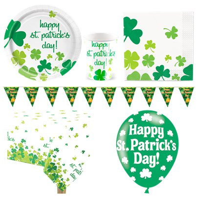St Patrick's Shamrock Party Pack - Deluxe Pack For 8