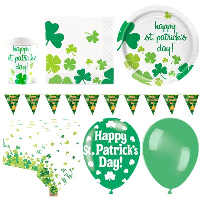 St Patrick's Shamrock Party Pack - Deluxe Pack For 16