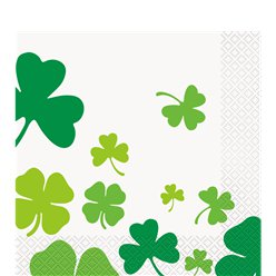 Rainbow Shamrock Paper Lunch Napkins - 33cm
