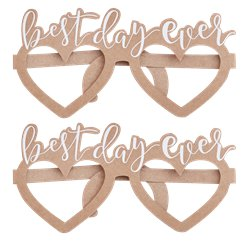 Rustic Country Best Day Ever Party Glasses