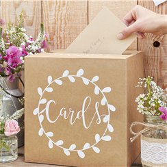 Rustic Country Card Holder Box