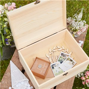 Rustic Country Wooden Memory Keepsake Box