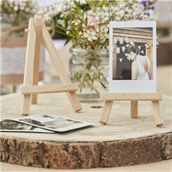 Rustic Country Mini Wooden Easels - 13cm
