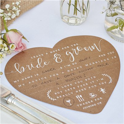 Rustic Country Advice For The Bride & Groom Cards